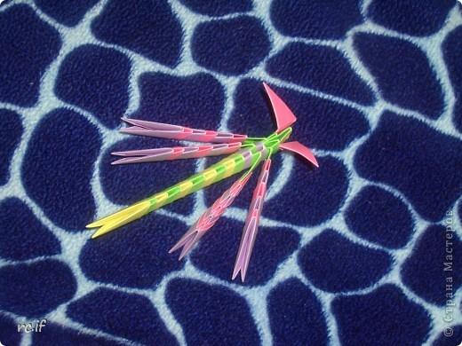 Стрекозка по МК Татьяны Просняковой: моя первая и последняя работа в технике модульное оригами фото 1