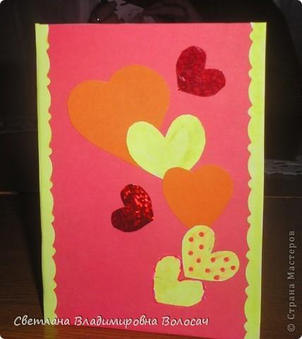 Эти открытки тоже подарены воспитанниками сотрудницам детского дома.  фото 4