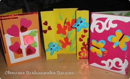 Эти открытки тоже подарены воспитанниками сотрудницам детского дома.  фото 3