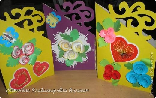 Эти открытки тоже подарены воспитанниками сотрудницам детского дома.  фото 2