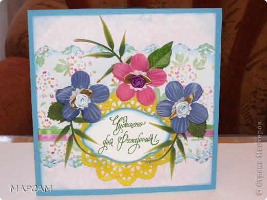 Здравствуйте, мои дорогие Мастерицы. Поздравляю вас всех с праздником Весны, женским днем 8 марта!!! Всем-всем здоровья, счастья, благополучия, творческих успехов и всего самого наилучшего. За праздничные дни успела поработать (сделал несколько открыток на заказ). Ничего объяснять не буду. Только скажу, что нашла в Интернете интересные шаблоны для писем, странички для поздравительных  записей,  которые можно использовать в открытках. Итак, смотрите.... фото 7