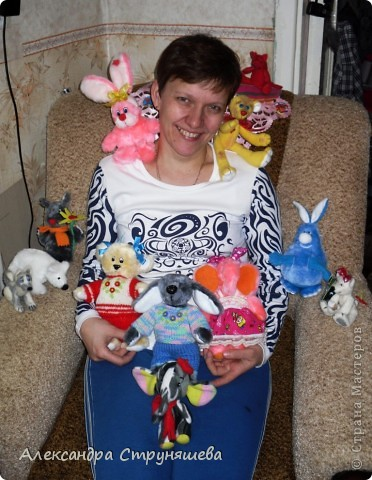 Все игрушки сшиты и сваляны меньше чем за месяц, очень нравится всё это дело, особенно валяние! фото 2