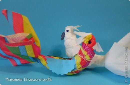 Птички из салфеток,яйцо выдуто и расписано акриловыми красками фото 9