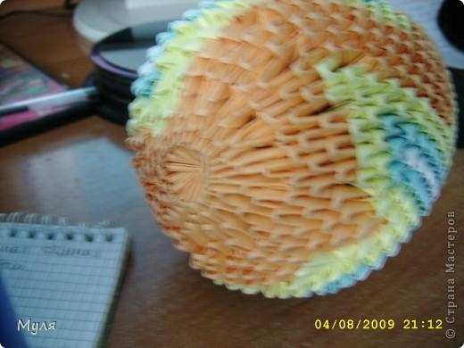 Оригинал Виктории Серовой  находится тут  http://vs-origami.narod.ru/diag/egg.htm. Бумага используемая мной была разная поэтому и яйца получились по форме не совсем одинаковые. фото 5