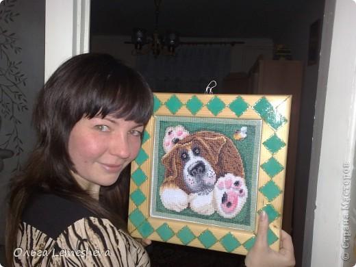 Вышивала в подарок для новорожденой Анечки,дочери  моей подруги,подушку сшила сама. фото 3