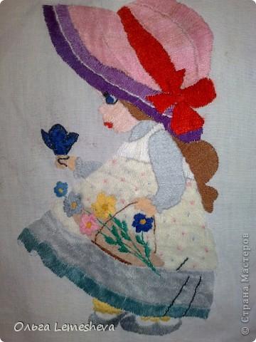 Вышивала в подарок для новорожденой Анечки,дочери  моей подруги,подушку сшила сама. фото 5