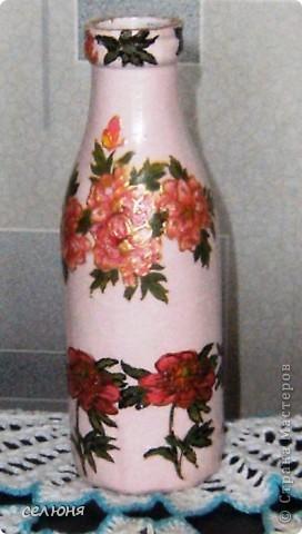 Вот какая вазочка сотворилась у меня к 8 марта! фото 5