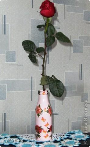 Вот какая вазочка сотворилась у меня к 8 марта! фото 6