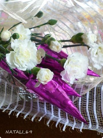 Букет с живыми цветами фото 1