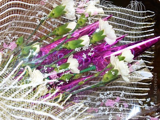 Букет с живыми цветами фото 2