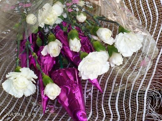 Букет с живыми цветами фото 3