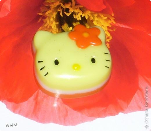 "Hello Kitty (кокосовое масло, аромат ""Тромические фрукты) фото 1"