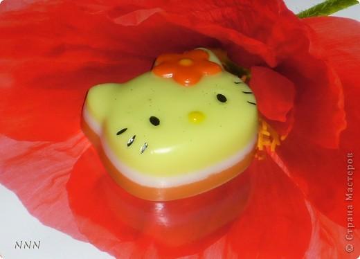 "Hello Kitty (кокосовое масло, аромат ""Тромические фрукты) фото 2"