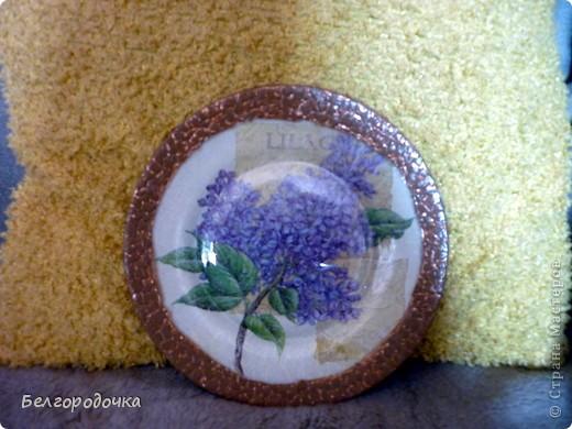 Прозрачная тарелка,обратный декупаж,салфетка,яичная скорлупа,клей ПВА,акриловые краски,аква-лак фото 1