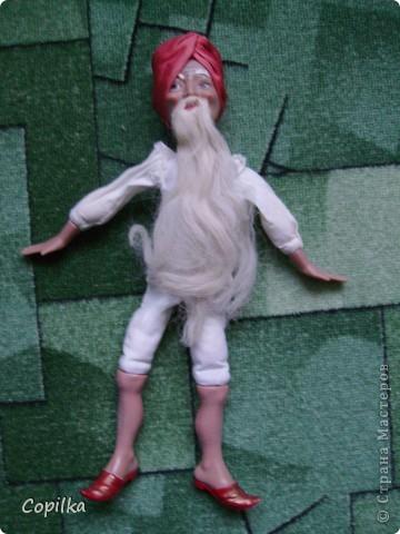 Вот в таком состоянии принесли мне старую-престарую куклу Хоттабыча!Размер её -30 см. фото 1