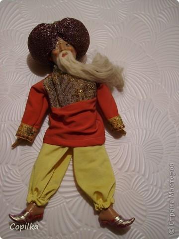 Вот в таком состоянии принесли мне старую-престарую куклу Хоттабыча!Размер её -30 см. фото 3