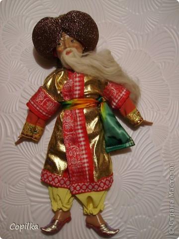 Вот в таком состоянии принесли мне старую-престарую куклу Хоттабыча!Размер её -30 см. фото 5