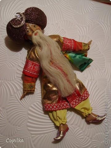 Вот в таком состоянии принесли мне старую-престарую куклу Хоттабыча!Размер её -30 см. фото 7