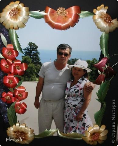 """7 Марта у родителей было 30 лет совместной жизни, благодаря МК """"Irusik"""" мне пришла идея красиво оформить фотографию. Это первая работа в этой технике, так что, прошу строго не судить))) (Но родителям очень понравилось)  фото 1"""