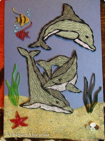 Дружная семья дельфинов