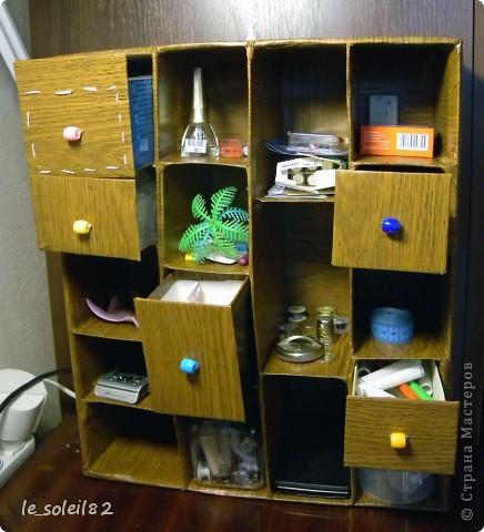 Почти год назад сделала такой вот шкаф для всякой мелочи.  фото 3
