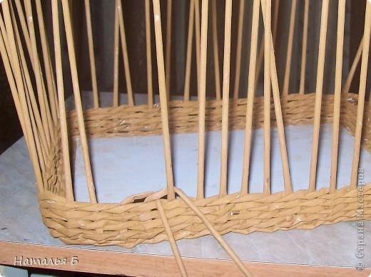 """Эту кромку я нашла в книге """"Плетение"""" Б. Мейнард 1981 г. выпуска (плетение из лозы), попробовала на коробочке для дочки, понравилось. Хочу поделиться. фото 3"""