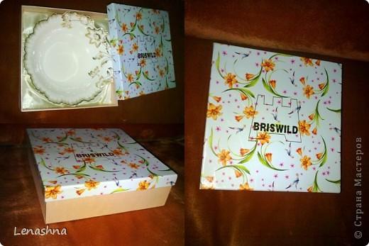 старая, но симпотичная коробочка от подарочного набора, которой я не находила приминения... фото 3