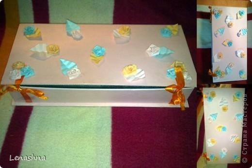 старая, но симпотичная коробочка от подарочного набора, которой я не находила приминения... фото 2