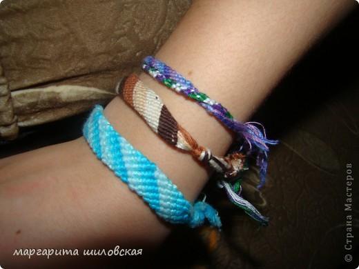 Вот такие фенечки я сделала благодаря этому сайту: http://fene4ki.ru/vechnaja-klassika.html фото 1