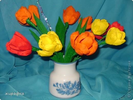 Тюльпаны сделаны по мастер-классу Татьяны Николаевны http://stranamasterov.ru/technics/flowers22-23.html