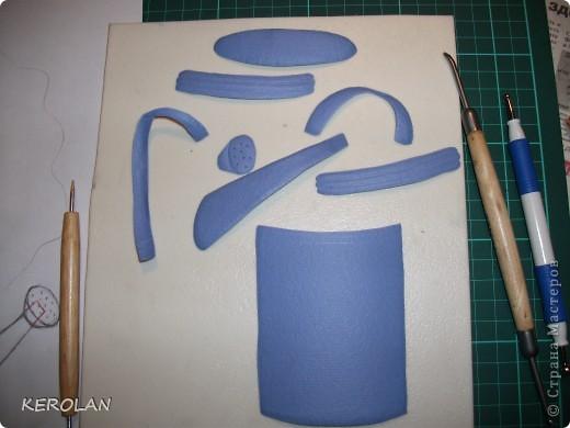 Хочу предложить вам небольшой мастер класс как делать предметы в бумагопластике. Конечно это не для слабонервных, потому что пальцы руки в первый раз будут болеть от напряжения. Но если вы не ленивы то у вас все получится. фото 11