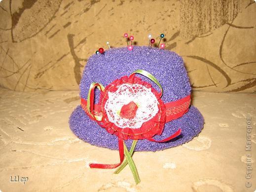 1. Игольница в виде шляпки фото 1