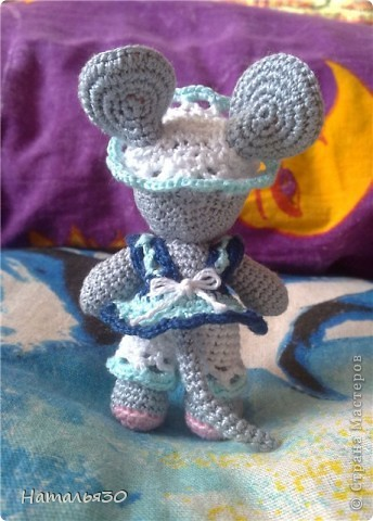 Мышь Сонька. Вдохновили всякие зайчики, мишки, мышки и др. игрушки, увиденные мною на просторах интернета. фото 5