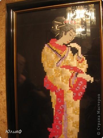 """Здравствуйте. Представляю Вам работы моей родственницы из соломы и лент для цветов. Работы выполнены в технике """"Мозаика"""". Это все вместе фото 6"""