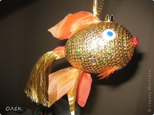 Золотая рыбка из шин