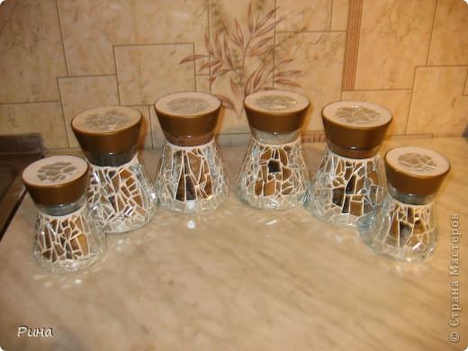 Декор стеклянной банки для кухни своими руками