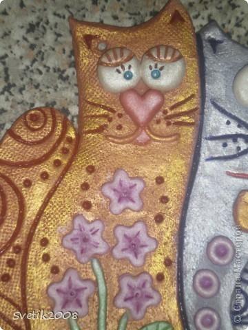 Нашей влюбленной бабушке (маме) в подарок на 8 марта слепила вот таких мартовских котеек. Вдохновилась работой Надежды Боталовой. http://stranamasterov.ru/node/155325 Спасибо за идею. фото 4