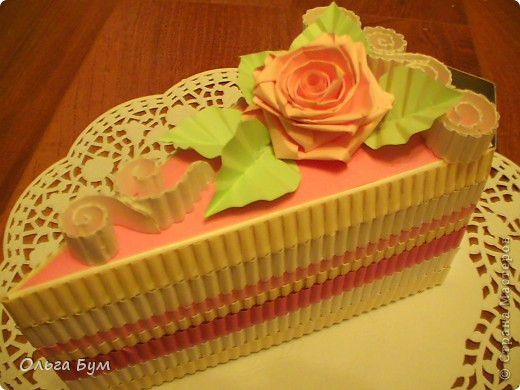 Вот такие тортики мы приготовили на 8 марта на первом занятии! Это тортики - коробочки для подарка. Спасибо Стране за МК!!! фото 3