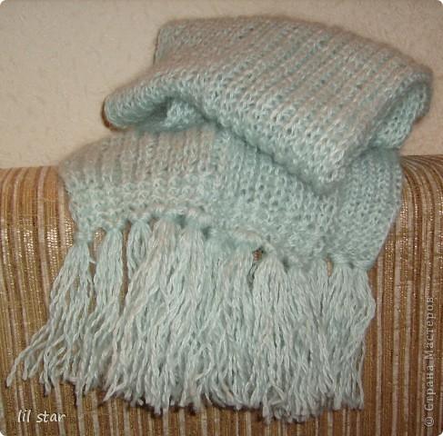 Мой первый шарфик. фото 1