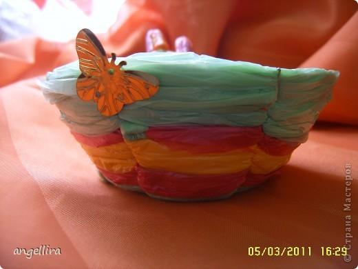Приближается Пасха и многие хотят сделать что нибудь оригинальное для себя или в подарок своим близким. Я нашла вариант вот такой корзиночки. По этой ссылке можно скачать выкройку,я правда её уменьшила для одного яйца :) http://handmade.kharkov.ua/uroki-masterstva/pletenie/153-korzinka-dlya-pasxalnyh-jaic.html  фото 2