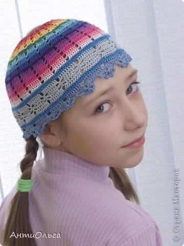 Вязаные шапочки фото 8