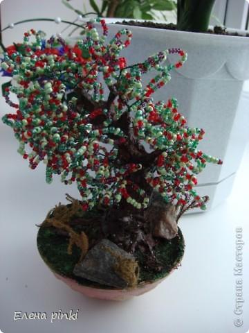 понравилось работать с бисером,обязательно попробую вырастить еще одно деревце! фото 2