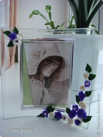 рамочка с цветами из ХФ фото 1