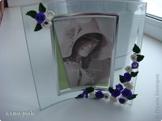 рамочка с цветами из ХФ фото 2