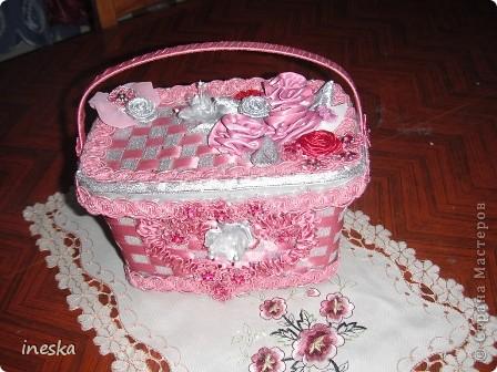Мастер-класс Поделка изделие 8 марта Валентинов день День матери День рождения Шитьё Мои шкатулки из пластиковой посуды  Розовая нежность  фото 28
