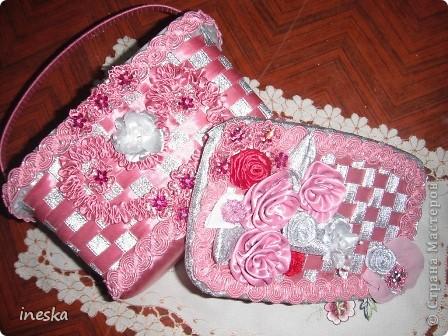 Мастер-класс Поделка изделие 8 марта Валентинов день День матери День рождения Шитьё Мои шкатулки из пластиковой посуды  Розовая нежность  фото 29