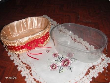 Мастер-класс Поделка изделие 8 марта Валентинов день День матери День рождения Шитьё Мои шкатулки из пластиковой посуды  Розовая нежность  фото 26