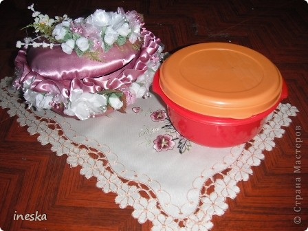 Мастер-класс Поделка изделие 8 марта Валентинов день День матери День рождения Шитьё Мои шкатулки из пластиковой посуды  Розовая нежность  фото 25