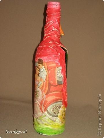 Подарки к этому 8 Марта у меня получились баночно-бутылочные. Последнее - женщинам постарше с внутренним наполнением, а молодым хозяйкам - баночки. Этот комплект для тети мужа. фото 5