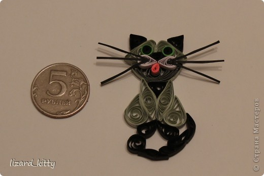 Вот такой котик-магнит у меня получился. Спасибо большое за МК ЛарисеАнатольевне.